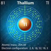 Thallium — Stock Vector
