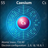 Caesium — Stock Vector