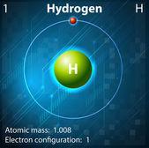 Hydrogen — Stock Vector