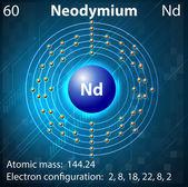 Neodymium — Stock Vector