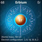 Erbium — Stock Vector
