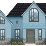 大きな青い家 — ストックベクタ #36146719