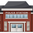 A police station building — Stock Vector