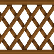 A wooden barricade — Stock Vector