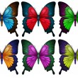 Colorful butterflies — Stock Vector #36147241