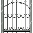 A steel gate — Stock Vector
