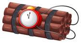 An explosive bomb — Stock Vector