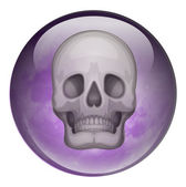 A ball with a skull — Stock Vector