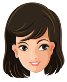 A female's face — Stock Vector