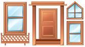 Different door designs — Stock Vector