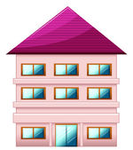A big three-story house — Stock Vector