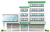 A hospital building — Stock Vector