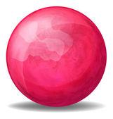 A fuschia pink ball — Stock Vector