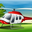 Stock Vector: Chopper landing