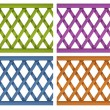 Stock Vector: Colorful wooden fences