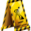 Stock Vector: An under construction sign