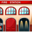 Fire station building — Stock Vector #39031599