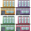 Different house designs — Stock Vector