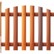 Wooden barricade — Stock Vector #39031777