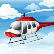Stock Vector: Helicopter flying