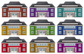 Colorful houses — Stock Vector
