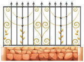 A gate made of pointed steel — Stock Vector