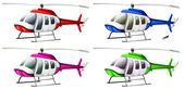 A group of helicopters — Stock Vector