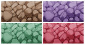 Colorful brick textures — Stock Vector