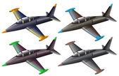 A group of fighter jets — ストックベクタ