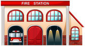 A fire station building — Stock Vector