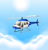 A chopper flying — Stock Vector