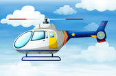 A helicopter in the sky — Stock Vector