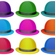 A group of colorful hats — Stock Vector #39486629