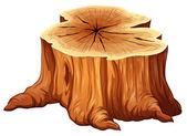 Um toco de árvore grande — Vetor de Stock