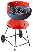 A round barbeque grill — Vector de stock