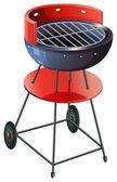 Un barbecue rotondo — Vettoriale Stock