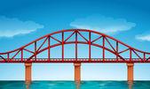 A beautiful bridge — Stock Vector