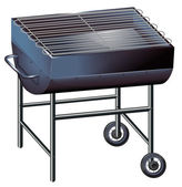 A gray barbeque grill — Stock vektor