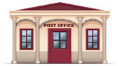 A post office — Stock Vector
