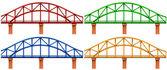 Four colorful bridges — Stock Vector