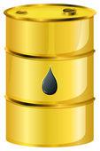 A golden oil barrel — Stock Vector