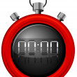 A red timer — Stock Vector #41365781