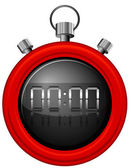 A red timer — Stock Vector