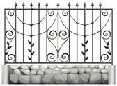 A steel fence — Stock Vector