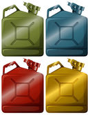 Gasoline containers — Stock Vector