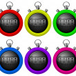 Colorful timers — Vettoriale Stock