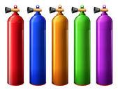 Oxygen tanks — Stock Vector