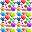 A seamless colorful heart pattern — Stock Vector #41987071