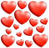 Small and big hearts — Stock Vector