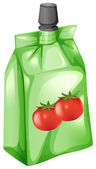 A tomato juice in a drinking pouch — Vetorial Stock